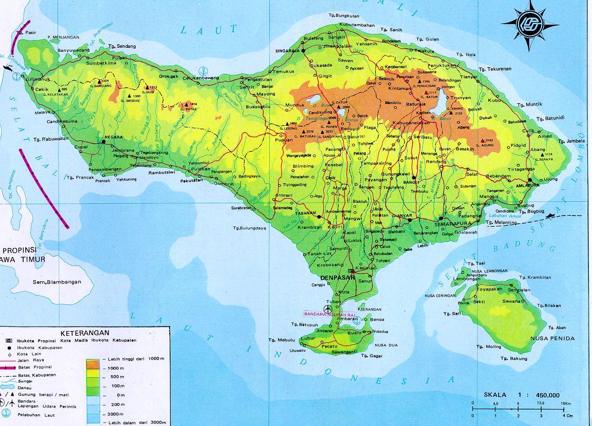 AMAZING INDONESIA BALI MAP