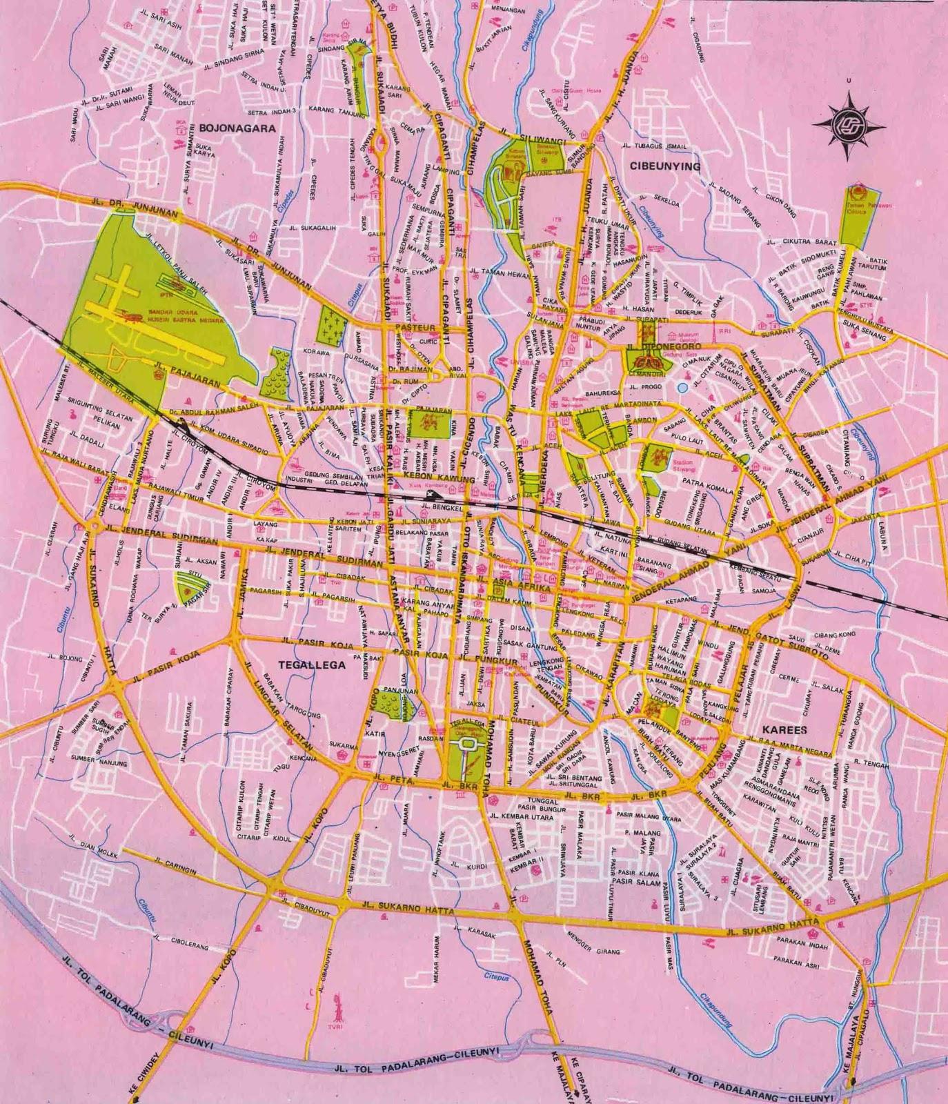 Amazing indonesia bandung city map bandung city map englishindonesia sciox Gallery