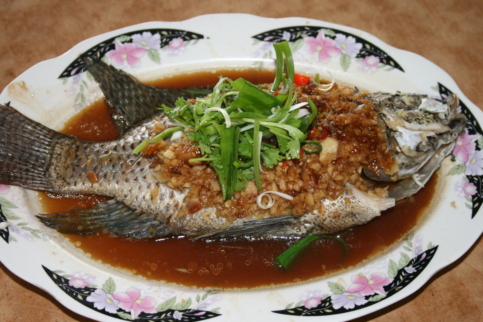 Malaysianfoodyummy restoran ikan tilapia lan je rawang for Is tilapia a man made fish