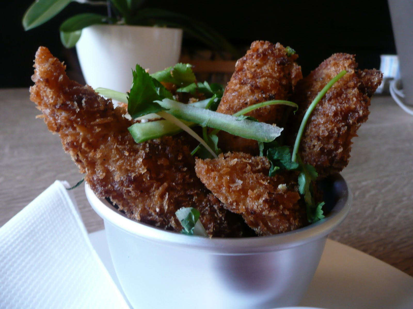 Oriental crispy fried chicken with chillies and five spice