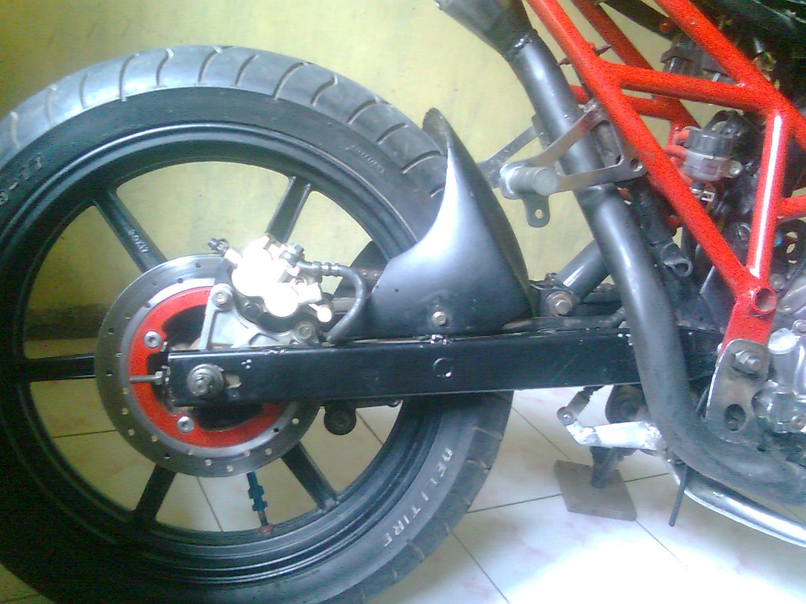 120 tangki megapro new mesin over size 25 sasis handmade model ducati