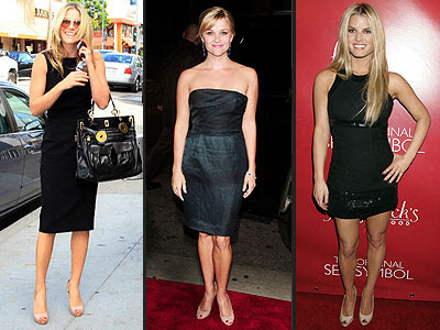 Ali Larter, Reese Witherspoon and Jessica Simpson elongate their legs – and