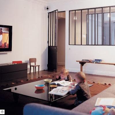 Id es d co de paris et de californie esprit maison de famille - Idee separation chambre salon ...