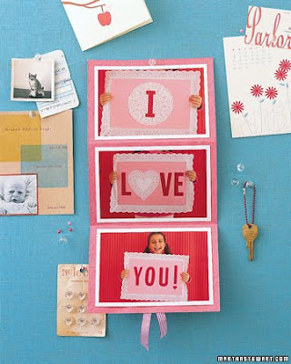 Valentine's Day Sign Card Create this card by making signs out of