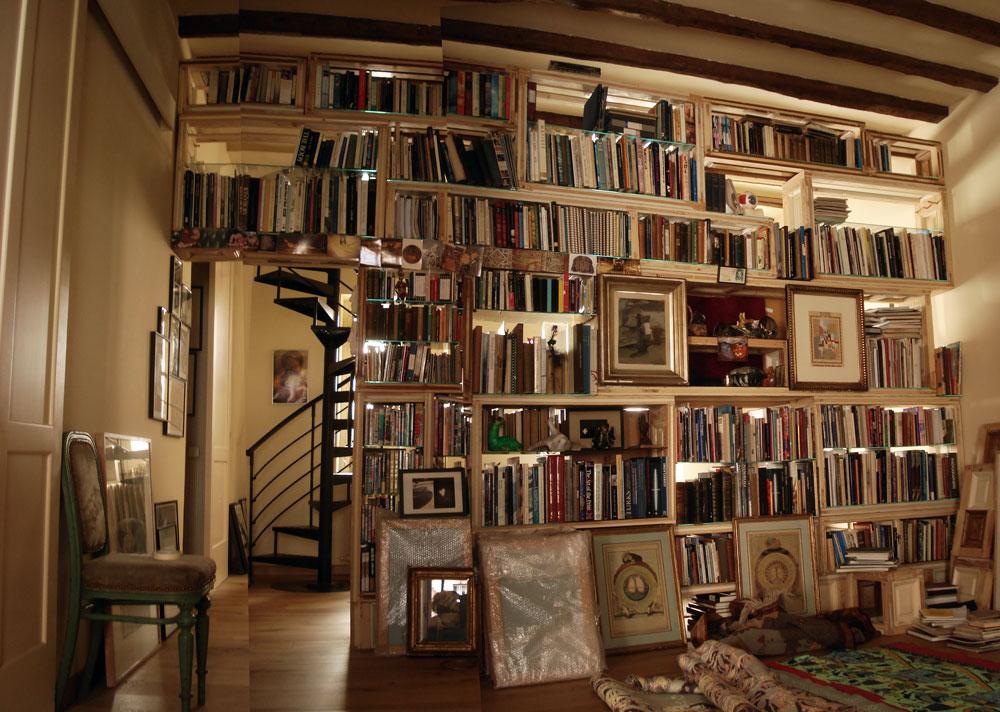 nuestro amigo adam nos encarg dividir un espacio enorme mediante una estantera librera que hara de muro separador siendo los libros usados en este