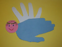 Hand Print Christmas Angel Craft for Preschoolers | Preschool Crafts ...