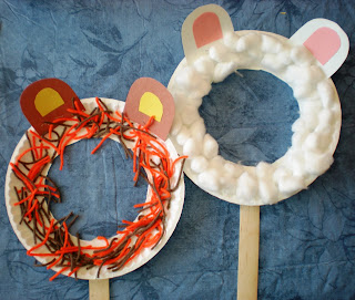 Paper plate animal masks munchkins and mayhem for Fun arts and crafts for 8 year olds