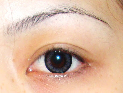 no make up on sorry..=( after: see the difference? ..it made my eye appears