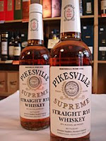 pikesville straight rye whiskey bottles