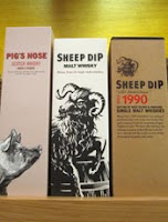 pig's nose, sheep dip and sheep dip 1990 'old hebridean'