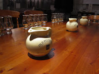 water jug and tasting glasses at pulteney distillery