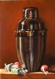 Daily Oil Painting, Still Life, Shaker