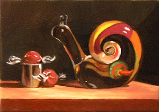 Daily Oil Painting, Still Life, Snail