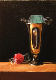 Daily Painting, Oil, Still Life, Shot Glass 2