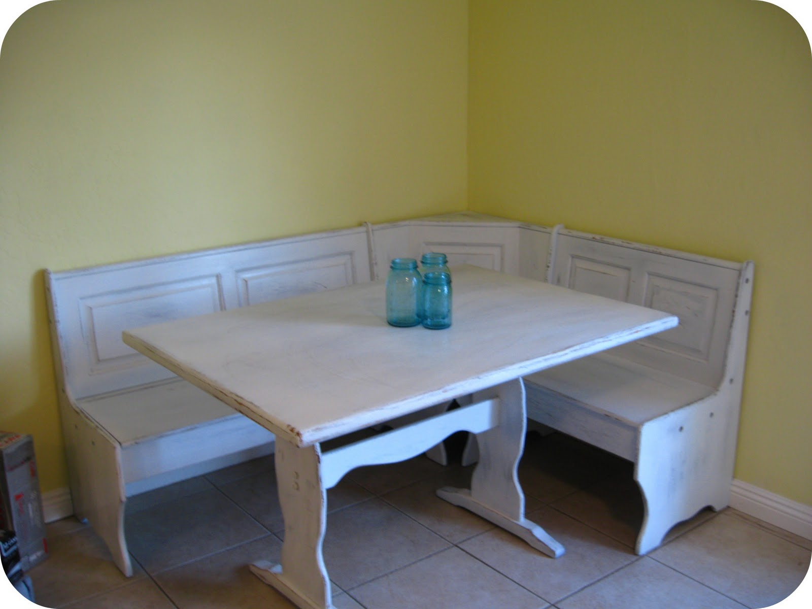 Diy kitchen table makeover part one dream book design - Kitchen table booth seating ...