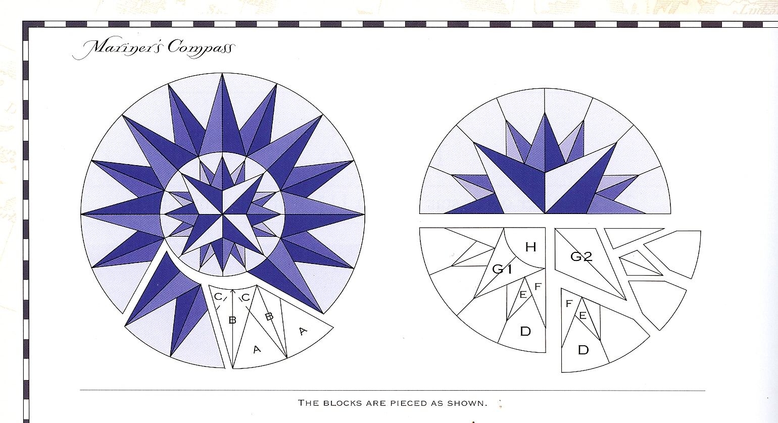 Quilting Patterns Mariner S Compass : Mariner s Compass
