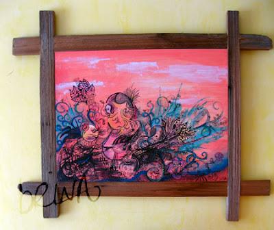 brina schenk painting and frame by rodney brink