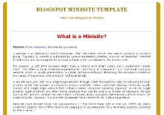 gold blogger minisite template
