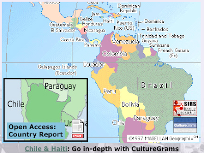 Haiti and Chile: Earthquakes and culture at ProQuest and CultureGrams, open access to 2010 country reports and local information...