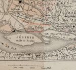 خريطة للقاهرة الخديوية 1878م