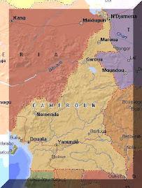 la carte du Cameroun