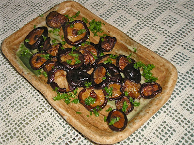 Fresh Shiitake Mushroooms Sauteed in Butter and Tamari