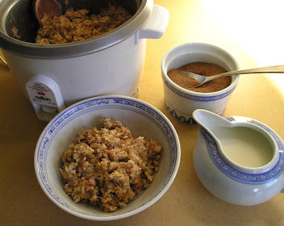 Oatmeal Cooked in a Rice Cooker