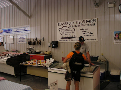 The Blanbrook Bison Farm booth at the Stratford Farmers Market