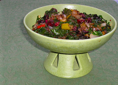 Rainbow Chard with Dried Cranberries