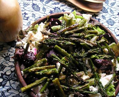 Roasted Beet and Asparagus Salad