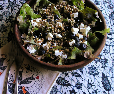Salad with Goat Cheese & Blueberries