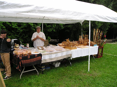 Holstein Farmers Market Baked Goods and Wooden Items
