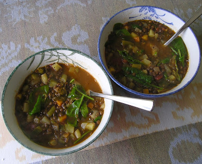 Summer Vegetable and Lentil Soup