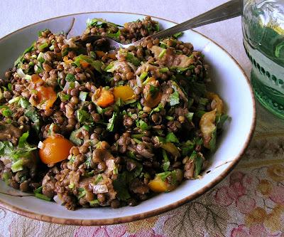 Lentil & Eggplant Salad