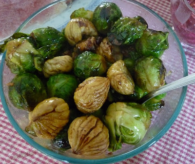 Brussels Sprouts Braised with Chestnuts