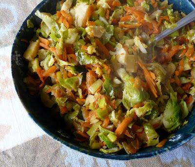 Brussels Sprouts Leeks and Carrots