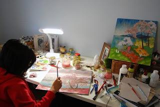 Noferin working in studio. 2009