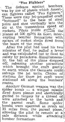 Defeat Finished Hun Experiments On New Weapons (B) - Hamilton Spectator 8-20-1945