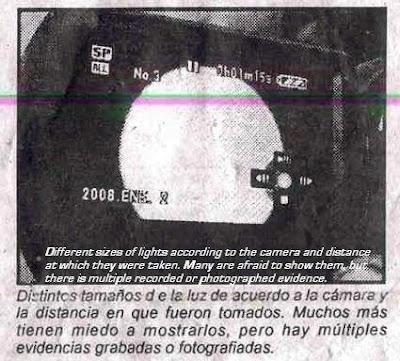 Ovni Causes Panic La Cronica - Photograph) 1-10-08