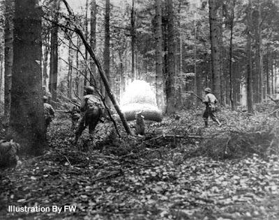Soldiers Approaching Kecksburg UFO