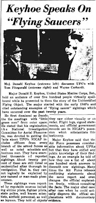 Keyhoe Speaks on Flying Saucers - Clarkson Integrator 2-16-1963