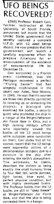 UFO Beings Recovered - Clarkson Integrator - 11-19-1974 (A)