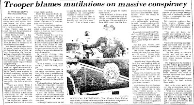 Trooper Blames Cattle Mutilations on Massice Conspiracy - New Mexican 10-18-1981