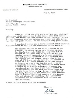 Hynek Letter To Stanford