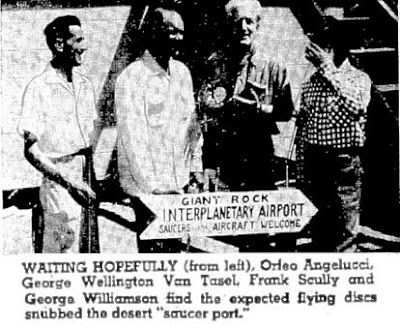 Orfeo Angelucci, George Van Tasel, Frank Scully & George Williamson - Long Beach Independent 4-5-1954