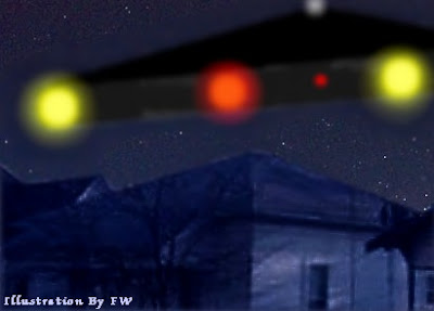 V-Shaped UFO OVer Cleburne, Texas 12-25-09