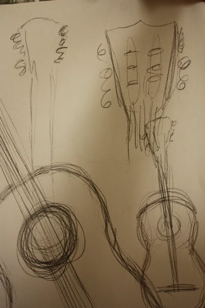 Contour Line Drawing Guitar : Experiments in drawing gesture and contour