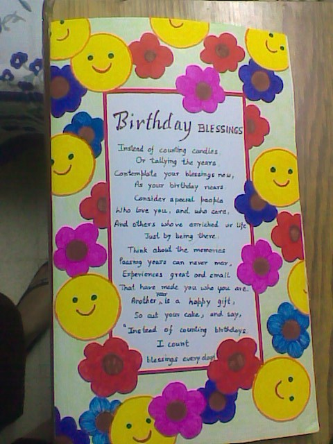 Handmade cards for my dear ones happy birthday my dear kuchhu sister happy birthday my dear kuchhu sister m4hsunfo