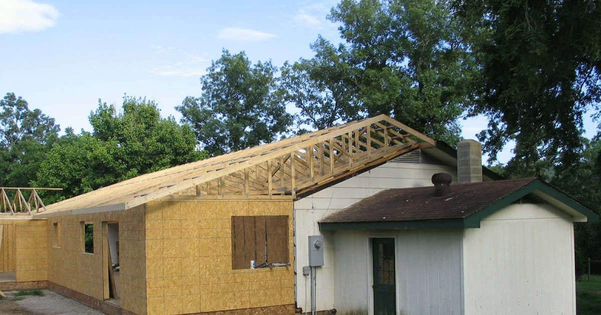 Blue John Remodel: July 13th, New roof over old roof