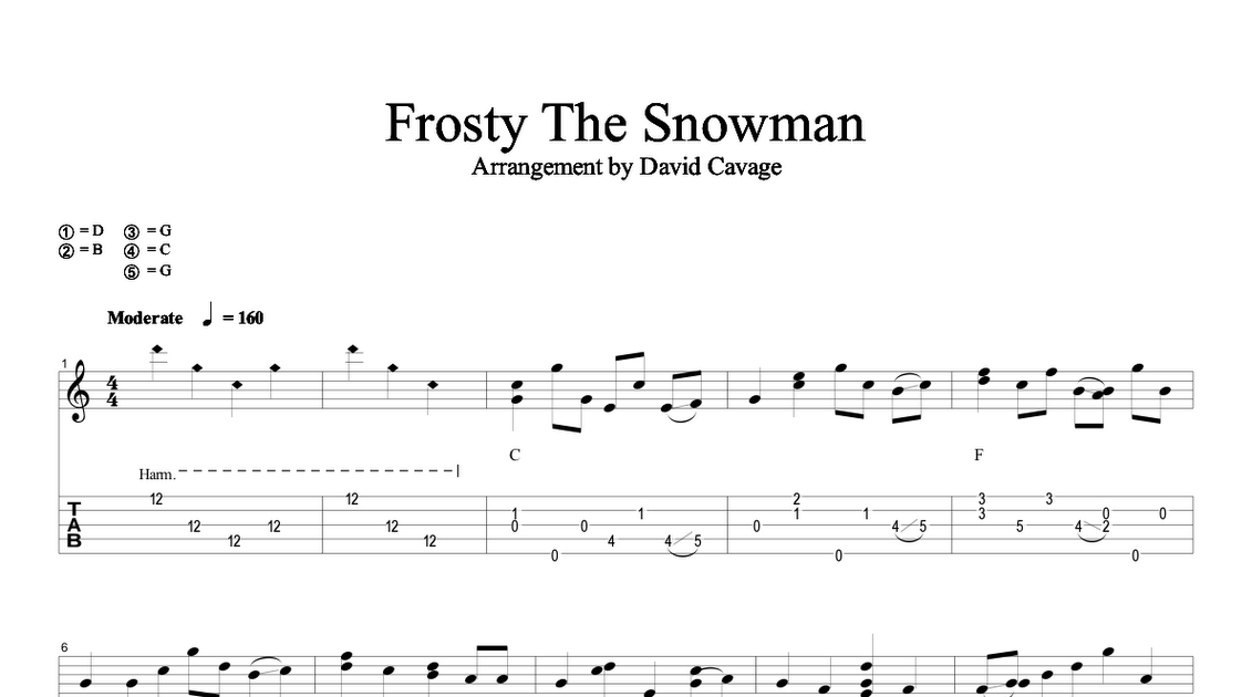 Banjo Lessons with David Cavage: Christmas Special: Frosty the Snowman!